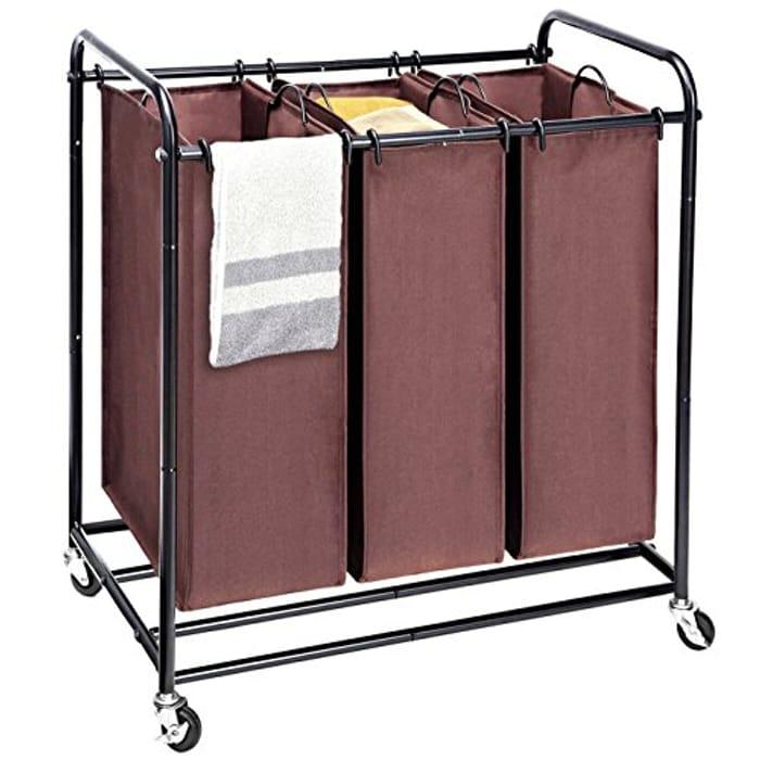 Laundry Sorter, Wheeled Trolley Cart