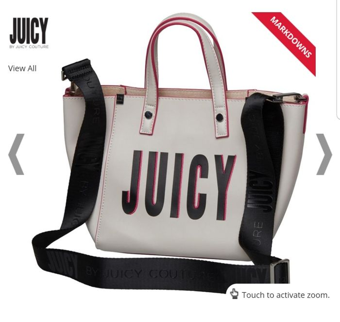 Juicy by Juicy Couture Womens Arlington Mini Soft Tote Bag White Juicy