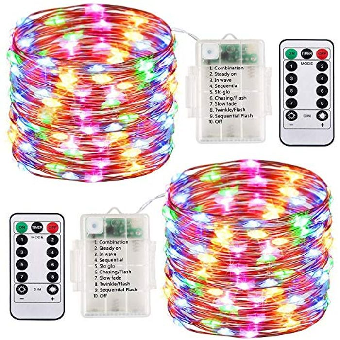 2 Pack LED Fairy Lights Battery Operated String Lights