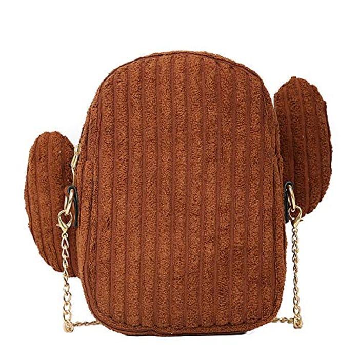 Canvas Cactus Makeup Tote Bag Messenger Bag