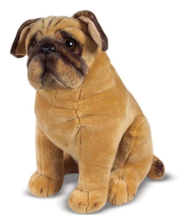 Melissa & Doug Pug Dog Lifelike Plush Toy