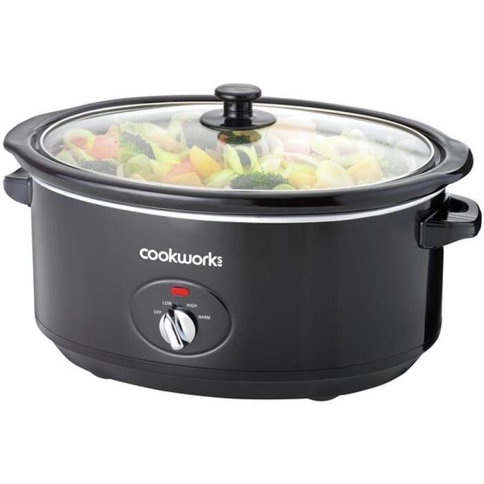 Cookworks 6.5L Slow Cooker - Black