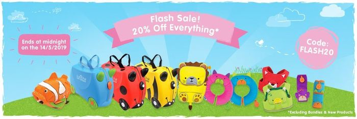 Trunki Flash Sale! 20% off with Code + Free Delivery on ALL Orders - Eg Pink