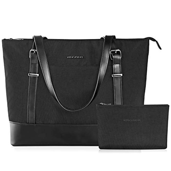 15% KROSER Laptop Tote Bag 15.6 Inch Large Shoulder Bag
