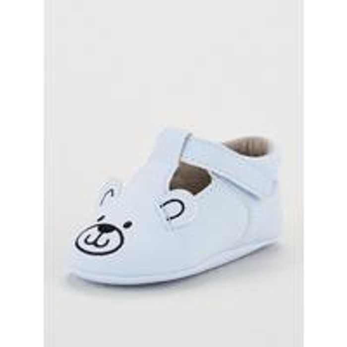 Mini v by Very Baby Boy Bear Pram Shoe - Blue