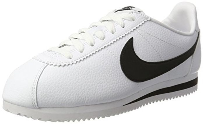 Nike Men's's Zapatillas Classic Cortez Leather White/Black Running Shoes