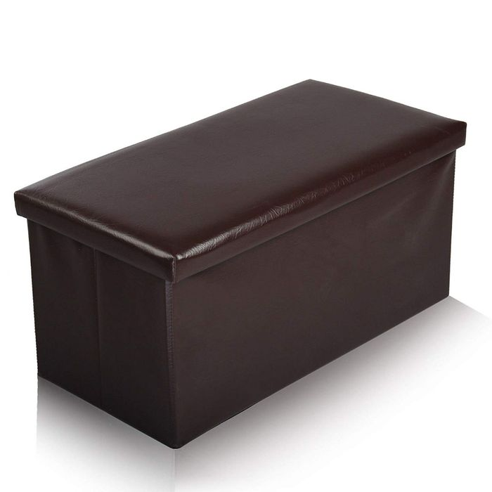 Ashley Mills Large Ottoman Foldaway Storage Bench Faux Leather Box Only £12.95