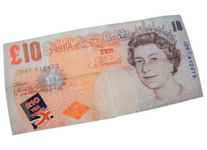 Tea Towel 10 GBP Note + Free Delivery