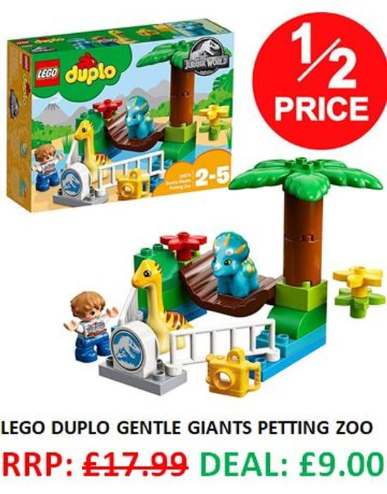 1/2 PRICE: LEGO DUPLO Jurassic World - Gentle Giants Petting Zoo **4.9 STARS**