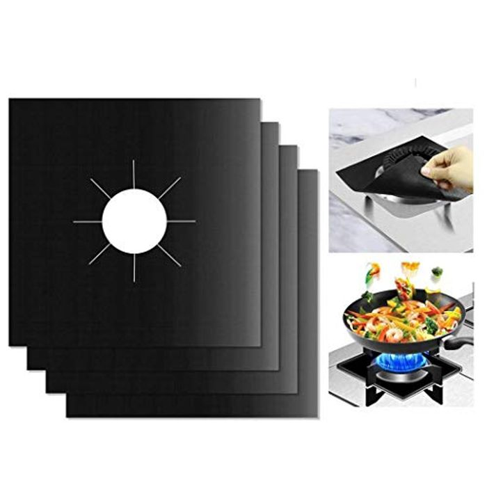 4 X Gas Stove Temperature Resistance Protection Mats - 30% Off with Code