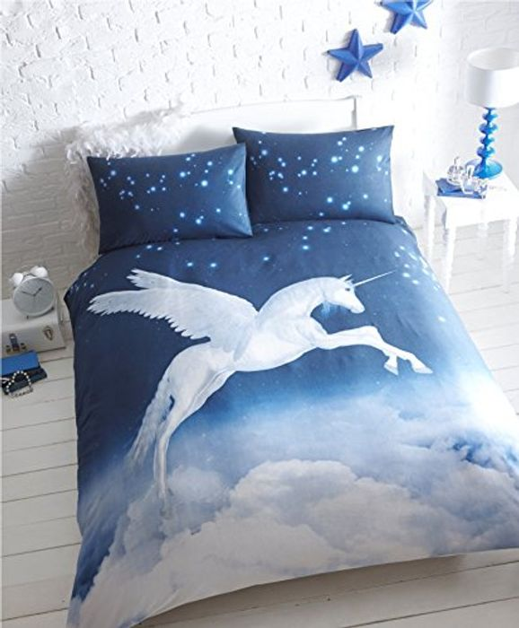 Unicorn Single Duvet Cover and 1 Pillowcase