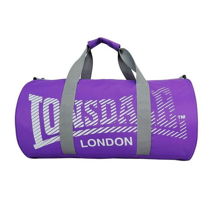 LONSDALE Barrel Bag - Purple/Grey