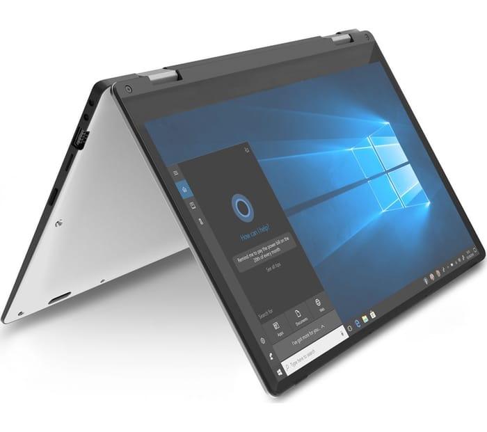 """GEO Flex 11.6"""" Intel Celeron 2 in 1 - 32 GB eMMC, Silver"""