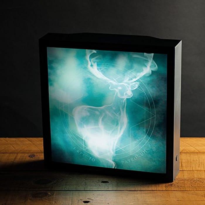 Harry Potter Patronus Luminart Night Light | Optical Illusion Canvas Art Lamp