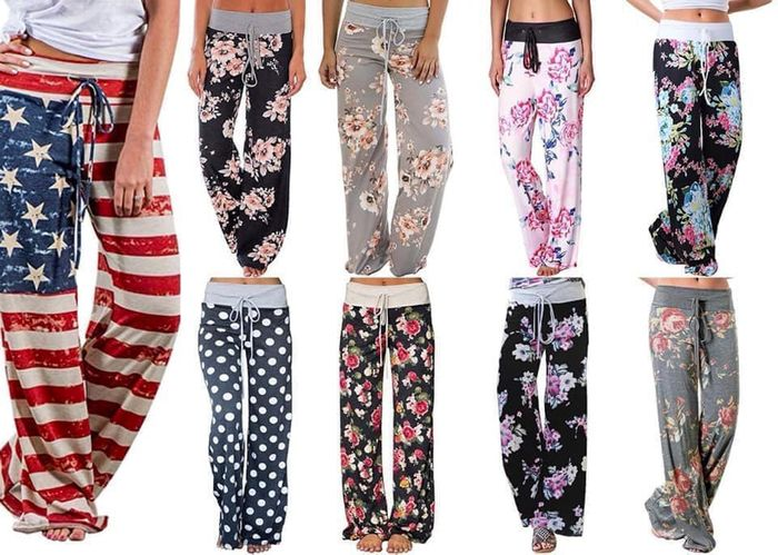 70% off Acecoree Women Casual Print Comfy Drawstring Lounge Pants Trousers