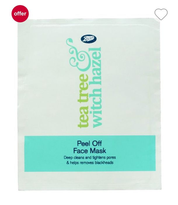 Boot's Tea Tree + Witch Hazel Peel off Face Mask