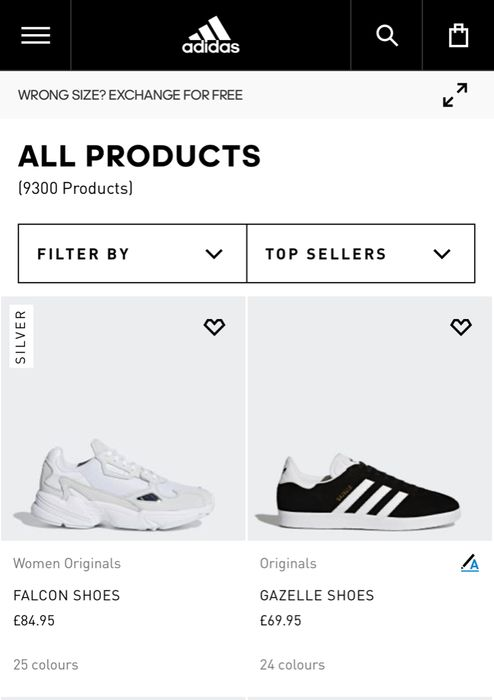 Extra 25% off Outlet Orders at Adidas