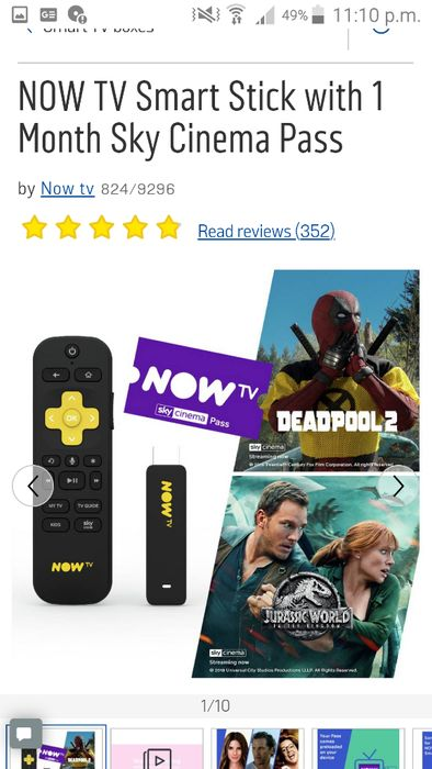Now TV Smart Stick and TV Passes