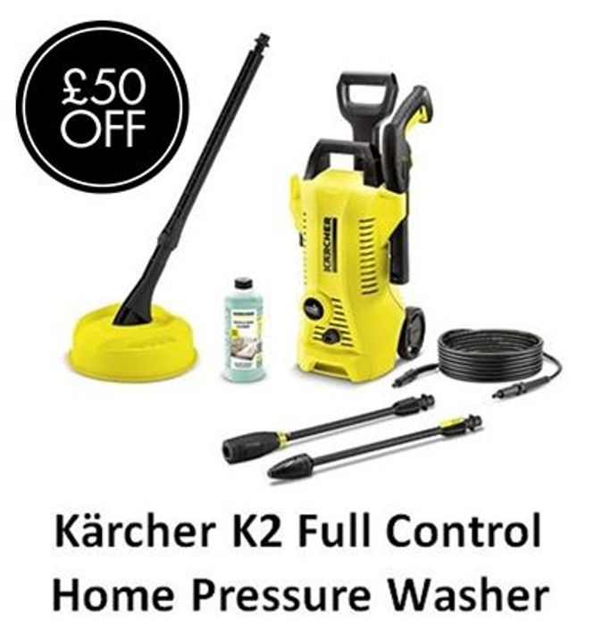 £50 OFF - TODAY ONLY! Karcher K2 Full Control Home Pressure Washer