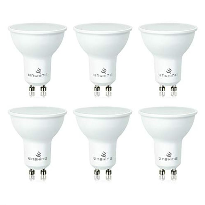 LED GU10 Spotlight Bulbs (Pack of 6) [Energy Class A+]