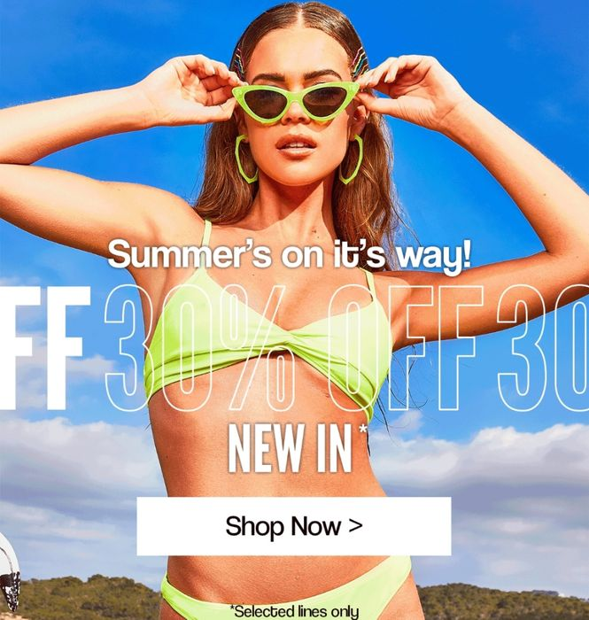 Boohoo - Summer's on the Way... 30% off New In
