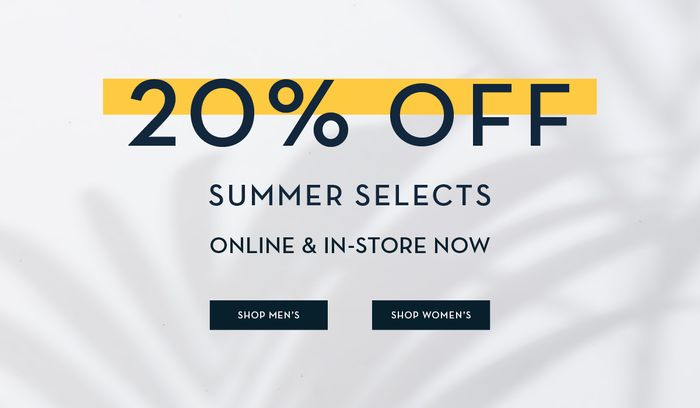 Crew Clothing - Here Comes the Sun | 20% off Summer Selects