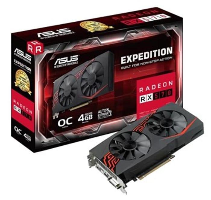 ASUS Radeon RX 570 Expedition 4GB Graphics Card + 2 Free Games £119.99 at Box