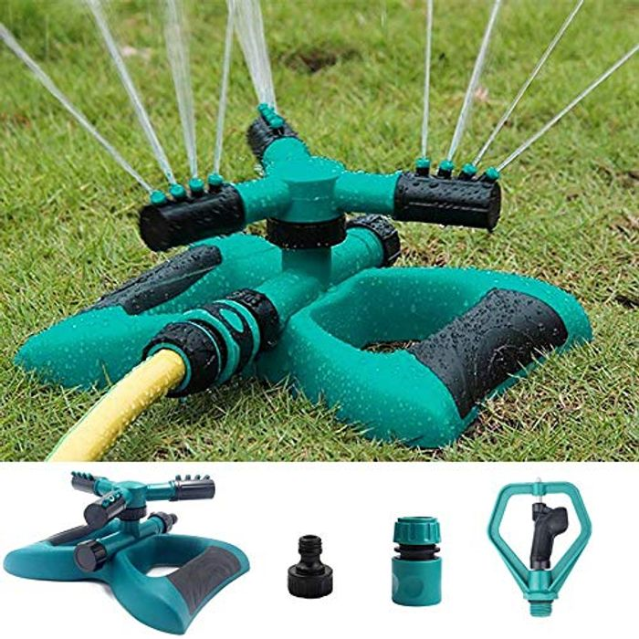 Automatic 360 Rotating Garden Water Sprinklers - HALF PRICE with Code