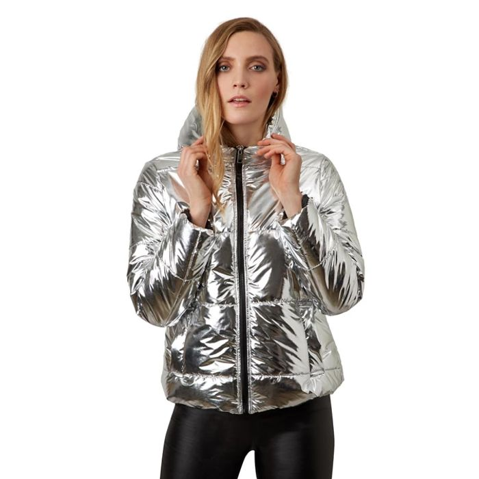 James Lakeland Silver Metallic Puffer Sizes 12,16,18 Available