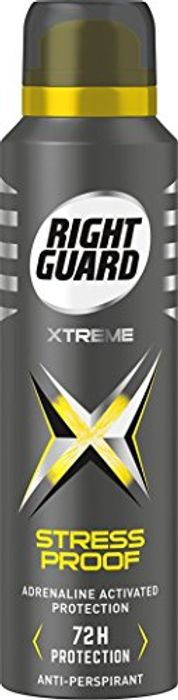 Right Guard Stress Proof Anti-Perspirant 150 Ml - Pack of 6 - 60% Off