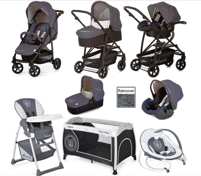 Hauck Rapid 4X Matching Travel System Bundle - Mickey Cool Vibes