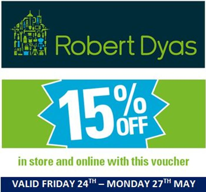 15% off Voucher Code (May 2019 Bank Holiday Weekend Voucher)