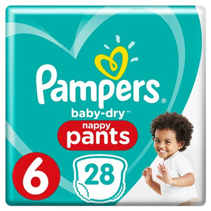 Pampers Baby Dry Pants Essential Pack Size 6 28 Nappies