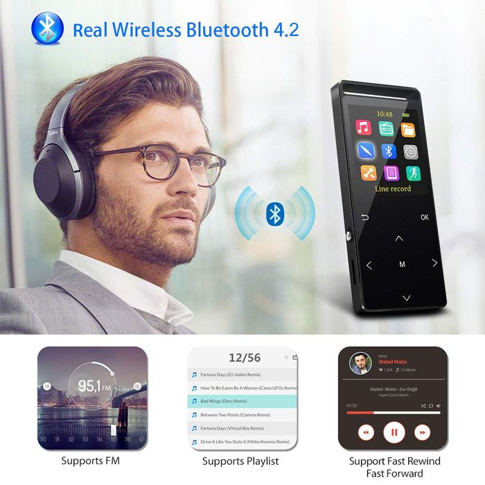 50% off 32GB Mp3 Player with Bluetooth,FM,Burning Armband, Pedometer