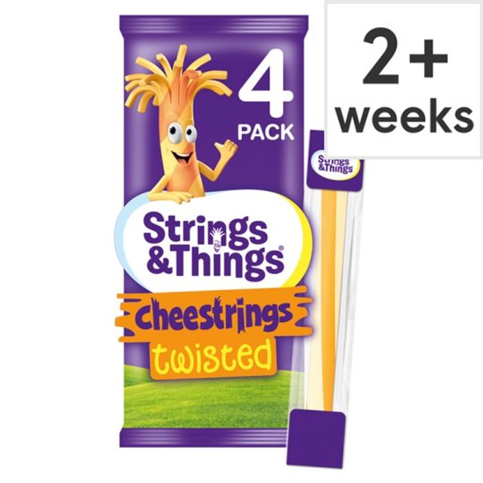 Cheestrings Twisted Cheese Snacks 4 Pk, 80 G