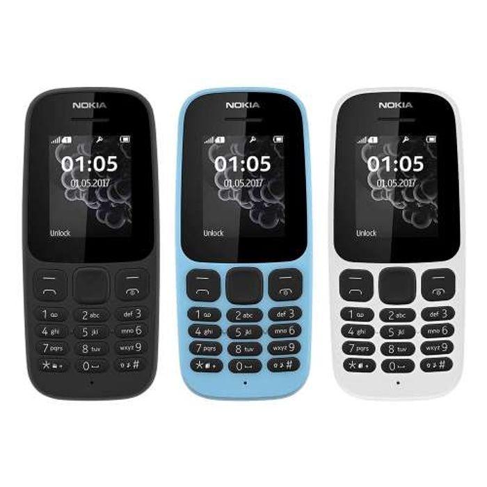 Nokia 105 SIM-Free Mobile Phone 2G- Unlocked - Black, Blue,White - 22% Discount
