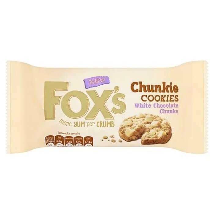 Fox's White Chocolate Chunky Cookies 180g - HALF PRICE