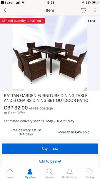 6 Piece Rayan Garden Furniture Set