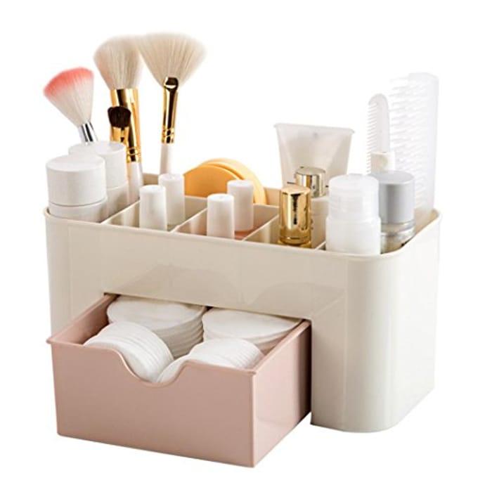 Kingko Desktop Chic Make Up Cosmetic Makeup Organizer Box Only £3.47