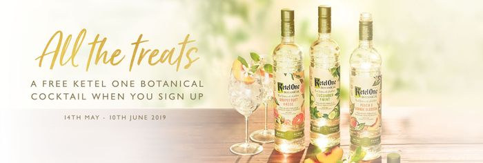 Free Ketel One Botanical Cocktail When You Sign up to All Bar One
