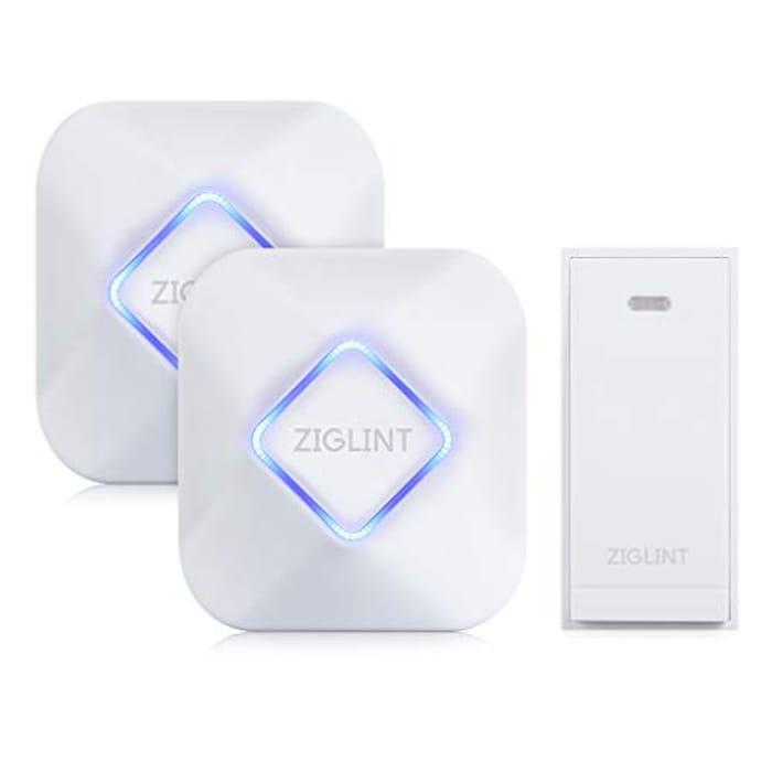 ZIGLINT Wireless Doorbell, No Batteries for Transmitter & Receiver