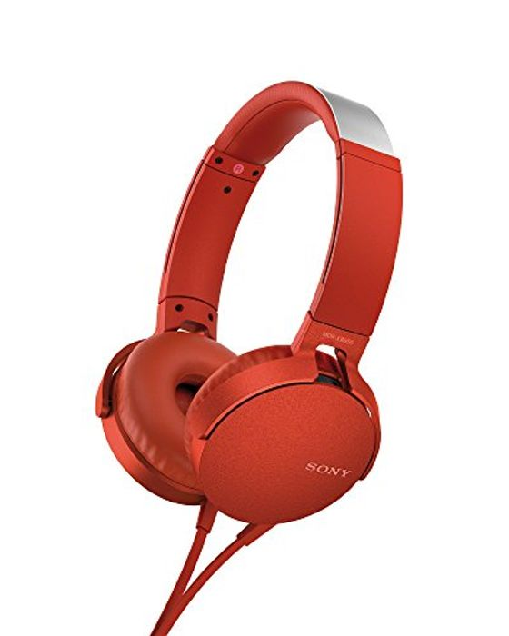 ALMOST 1/2 PRICE! Sony MDR-XB550AP Extrabass Headphones - Red