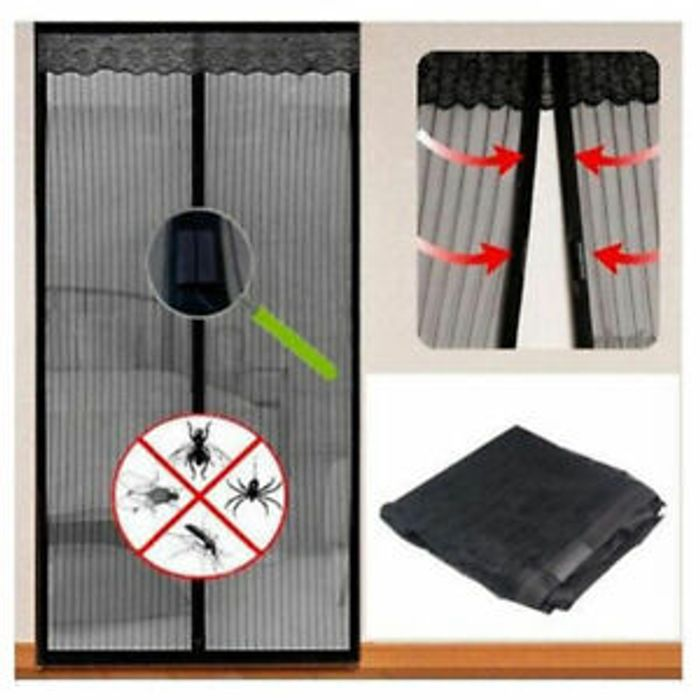 Magnetic Mesh Door Protective Curtain