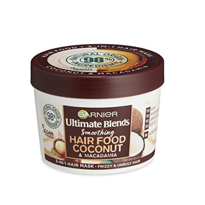 Garnier Ultimate Blends Hair Food Coconut Oil 3-in-1 Frizzy Hair Mask 390ml