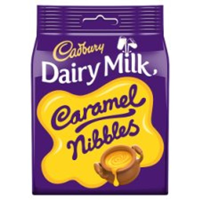 Cadbury Caramel Nibbles Chocolate Bag 120G
