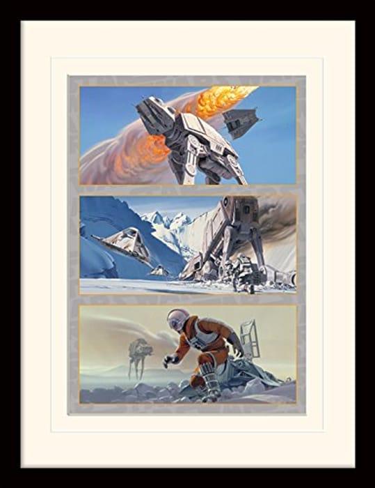 Star Wars Hoth Battle Memorabilia Art Print 30 X 40 Cm