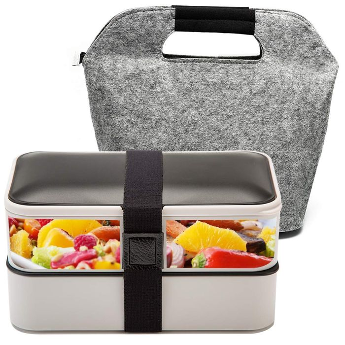 BOQUN Bento Box Containers 2-Compartment Hermetic with Reusable Lunch Boxes