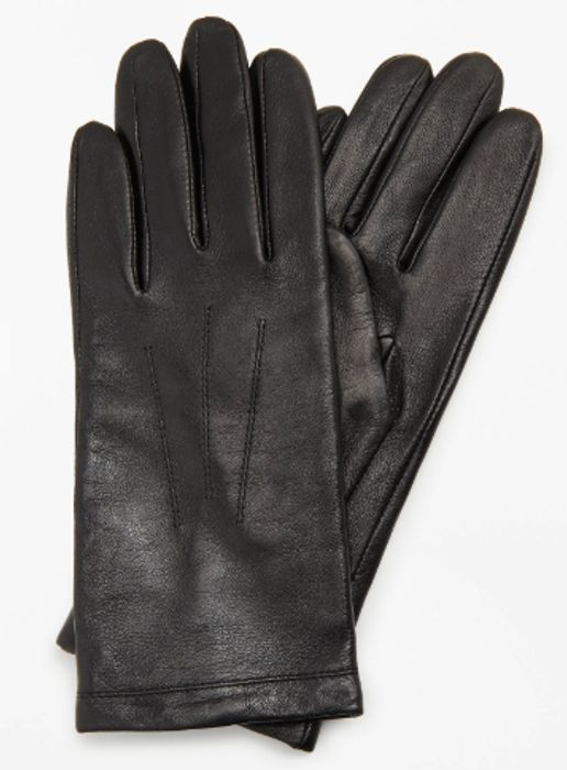 John Lewis & Partners Leather Fleece Lined Gloves