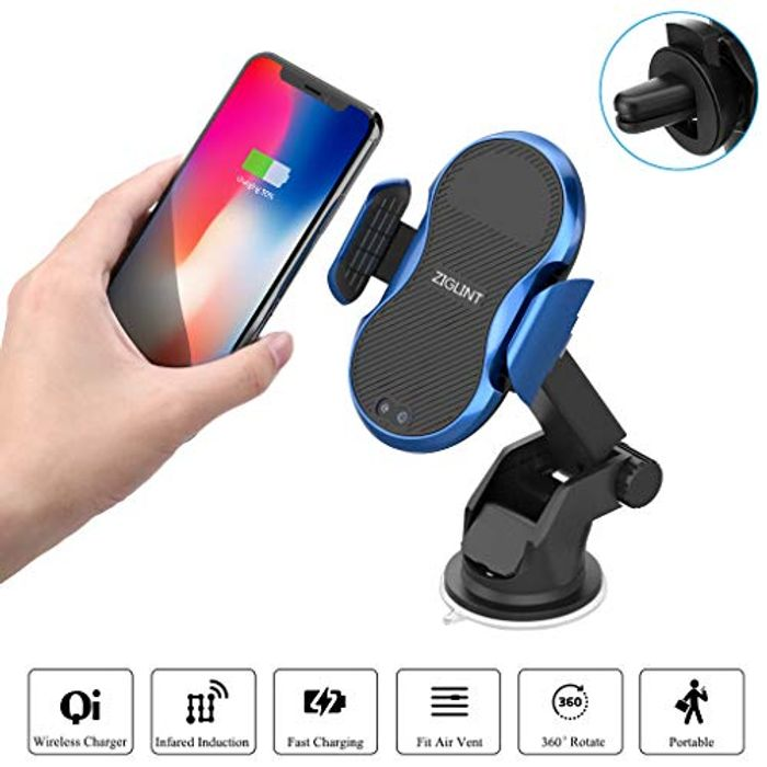 Wireless Charger Mount Save 74% at Amazon