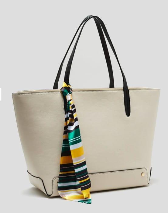 Scarf Tote Bag - Cream